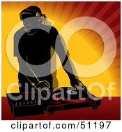 Royalty Free RF Clipart Illustration Of A Male DJ Version 1