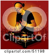 Royalty Free RF Clipart Illustration Of A Male DJ Version 14