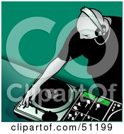 Royalty Free RF Clipart Illustration Of A Male DJ Version 10