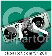 Royalty Free RF Clipart Illustration Of A Male DJ Version 4