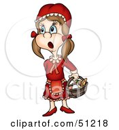 Royalty Free RF Clipart Illustration Of A Little Girl Version 8