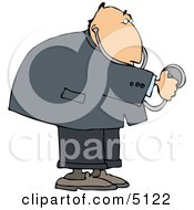 Heart Doctor Using A Stethoscope Clipart