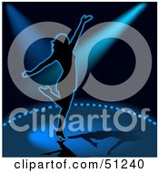 Royalty Free RF Clipart Illustration Of A Woman Dancing Version 4 by dero