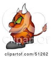Royalty Free RF Clipart Illustration Of A Bad Devil Version 3 by dero