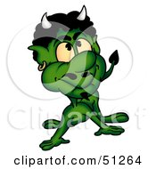 Royalty Free RF Clipart Illustration Of A Bad Devil Version 10 by dero