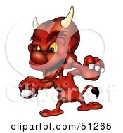 Royalty Free RF Clipart Illustration Of A Bad Devil Version 5 by dero