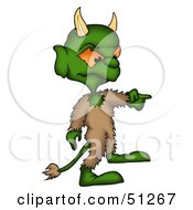 Royalty Free RF Clipart Illustration Of A Bad Devil Version 4 by dero