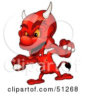 Royalty Free RF Clipart Illustration Of A Bad Devil Version 15 by dero