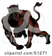 Royalty Free RF Clipart Illustration Of A Bad Devil Version 17 by dero