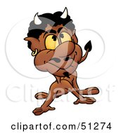 Royalty Free RF Clipart Illustration Of A Bad Devil Version 7 by dero