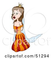 Clipart Illustration Of A Pretty Princess Version 12 by dero