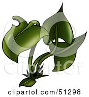 Royalty Free RF Clipart Illustration Of A Green Plant by dero