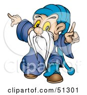 Royalty Free RF Clipart Illustration Of A Little Male Gnome Version 2 by dero