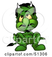 Royalty Free RF Clipart Illustration Of A Bad Devil Version 2 by dero