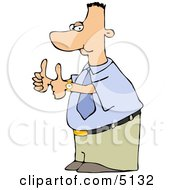 Businessman Nerd Thumbs Up Clipart by djart