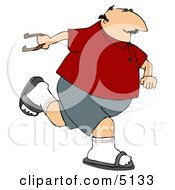 Man Playing Horseshoe Game Clipart by djart