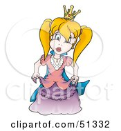 Clipart Illustration Of A Pretty Princess Version 1 by dero