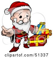 Clipart Illustration Of A Little Santa Version 2 by dero
