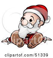 Clipart Illustration Of A Little Santa Version 3 by dero