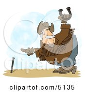 Horseshoe Player Playing Horseshoe Game Clipart