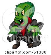 Royalty Free RF Clipart Illustration Of A Green Vampire by dero
