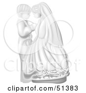 Clipart Illustration Of A Cute Wedding Couple Holding Hands