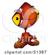 Royalty Free RF Clipart Illustration Of An Alien Creature Version 4 by dero