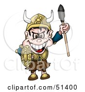 Royalty Free RF Clipart Illustration Of A Viking Man by dero
