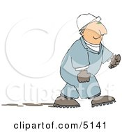 Male Worker Chewing On Tobacco Clipart by djart