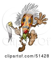 Royalty Free RF Clipart Illustration Of A Tribal Dancer by dero