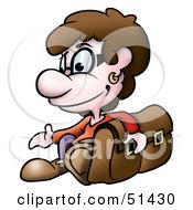 Royalty Free RF Clipart Illustration Of A Little Boy Version 1 by dero