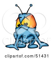 Royalty Free RF Clipart Illustration Of An Alien Creature Version 10 by dero