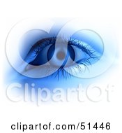 Royalty Free RF Clipart Illustration Of A Glowing Blue Eye