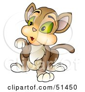Royalty Free RF Clipart Illustration Of A Begging Kitty