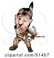 Royalty Free RF Clipart Illustration Of A Little Native American Version 1 by dero