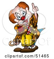 Clipart Illustration Of A Friendly Male Clown Version 1 by dero