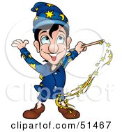 Royalty Free RF Clipart Illustration Of A Male Magician Version 4