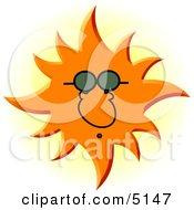 Conceptual Sun Wearing Uv Protective Sunglasses