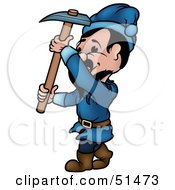 Royalty Free RF Clipart Illustration Of A Male Dwarf Version 4 by dero