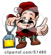 Royalty Free RF Clipart Illustration Of A Male Dwarf Version 5 by dero