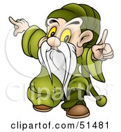Royalty Free RF Clipart Illustration Of A Male Dwarf Version 6 by dero