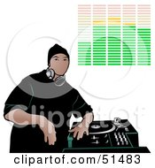 Royalty Free RF Clipart Illustration Of A Male DJ Version 9