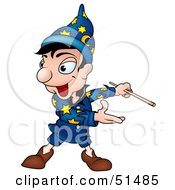 Royalty Free RF Clipart Illustration Of A Male Magician Version 3