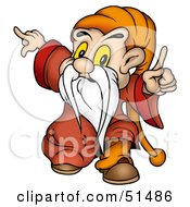 Royalty Free RF Clipart Illustration Of A Little Male Gnome Version 1 by dero