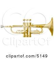 Poster, Art Print Of Musical Trumpet Instrument
