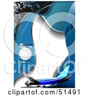 Royalty Free RF Clipart Illustration Of A Commercial Airliner On A Diner Menu With A Place Setting
