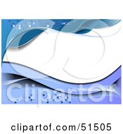 Royalty Free RF Clipart Illustration Of A Wavy Pixel Blue Background With White Space by leonid