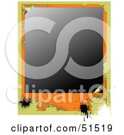 Royalty Free RF Clipart Illustration Of A Grungy Blank Photo Frame Symbolizing Memory Loss