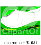 Royalty Free RF Clipart Illustration Of A Green Wavy Background With White Text Space