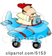 Man Playing Around In A Toy Airplane Clipart by djart